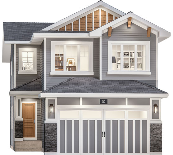 The Briar Floor Plan - Craftsman Elevation