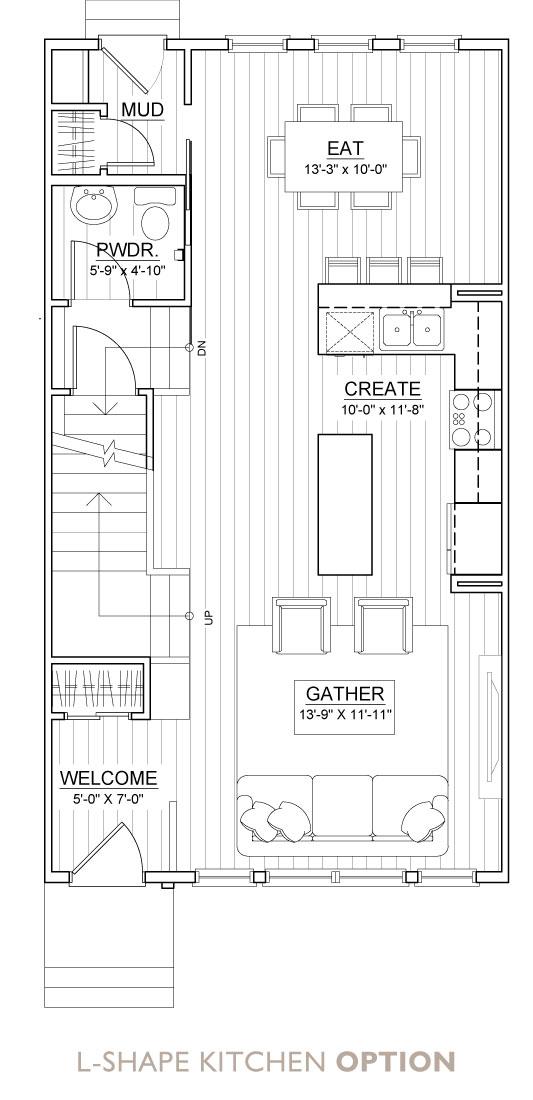 Carrington Street Towns – Floor Plan – L-Kitchen