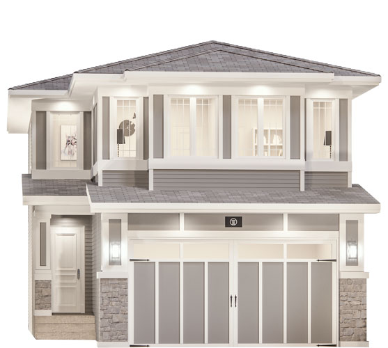 The Candid Floor Plan - Prairie Elevation