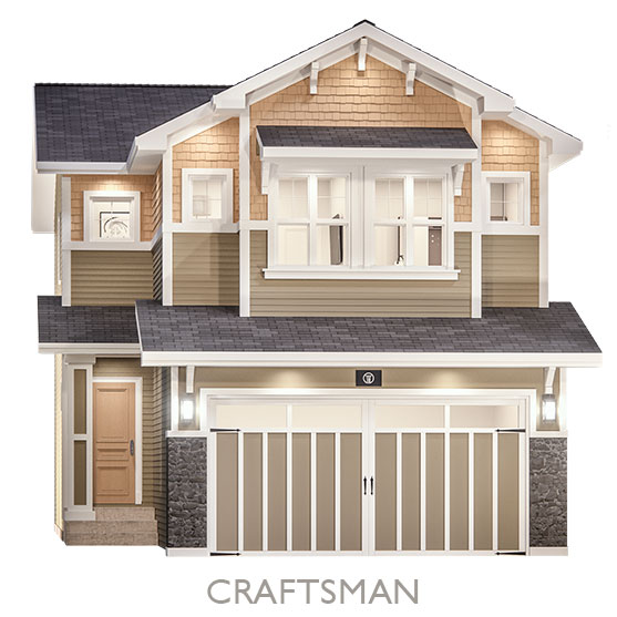 Single Family Estate Homes - By Truman - Craftsman Elevation