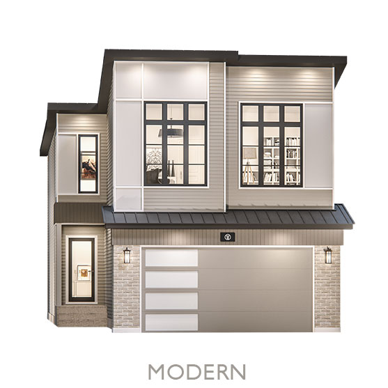Single Family Estate Homes - By Truman - Modern Elevation