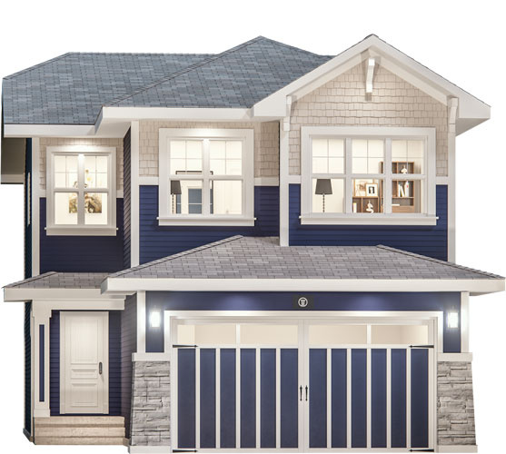The Forte Floor Plan - Craftsman Elevation