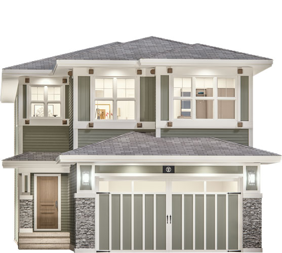 The Forte Floor Plan - Prairie Elevation