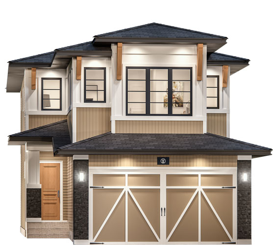 The Opal Floor Plan - West Coast Modern Elevation