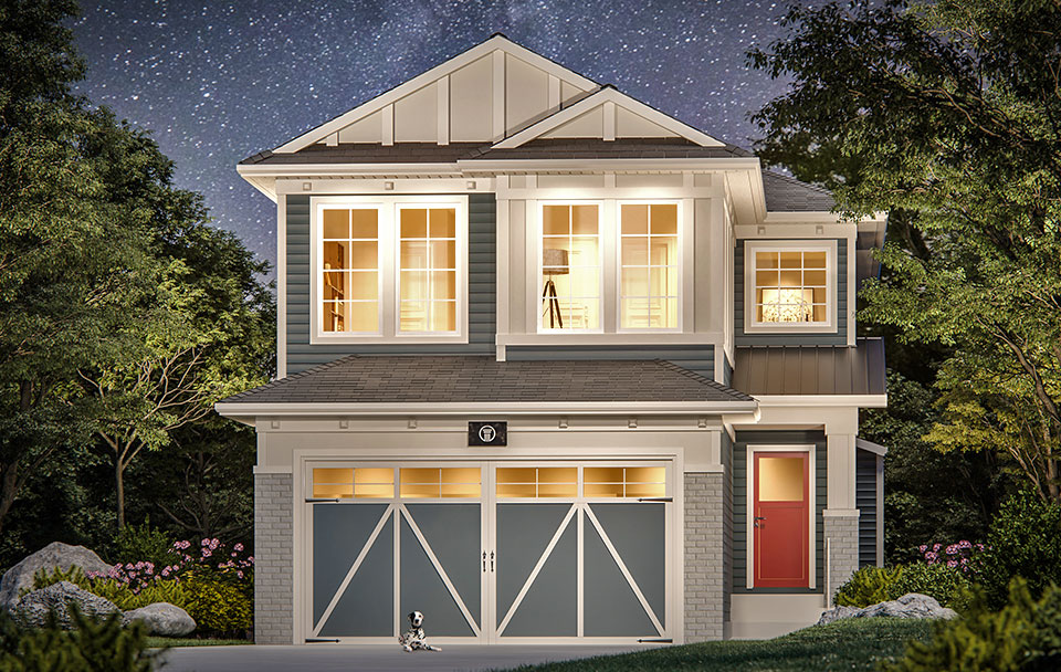 The Mystic Floor Plan - Craftsman Elevation