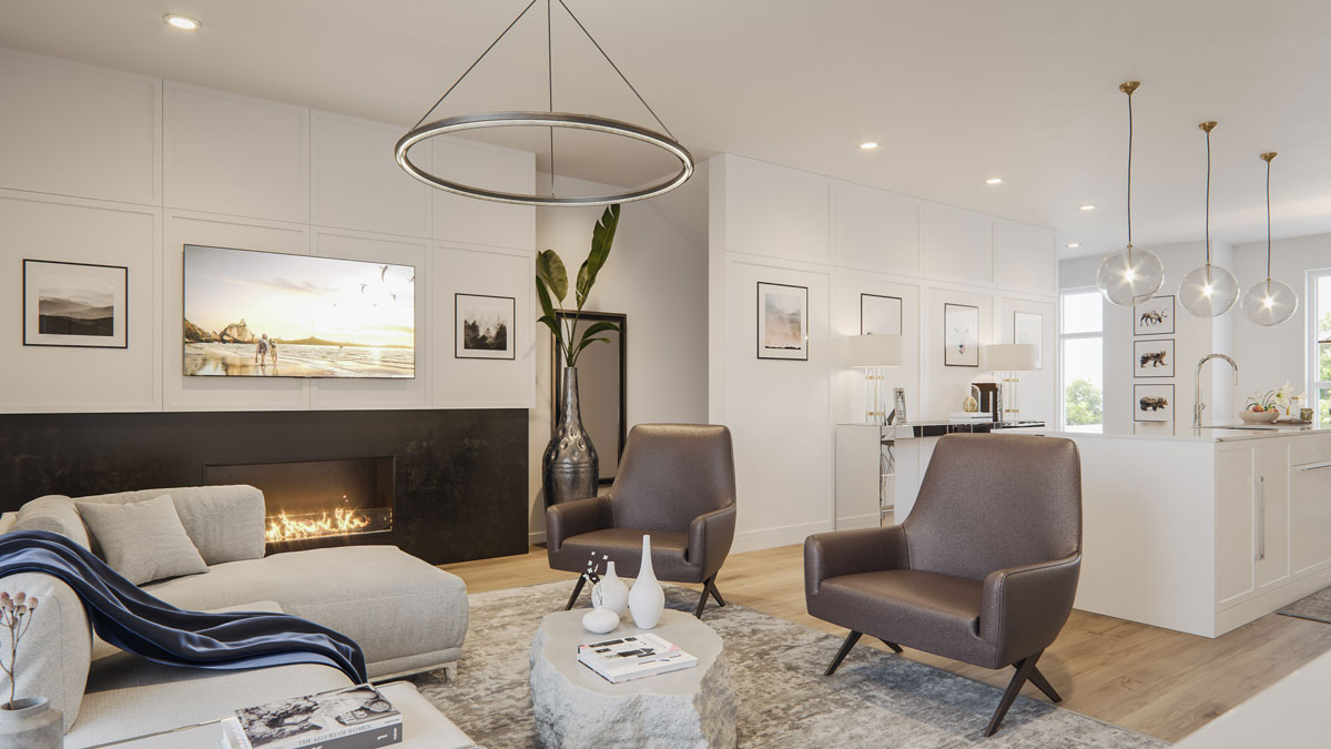Wilshire - New Exclusive Townhomes in Calgary - Interior - Living Room
