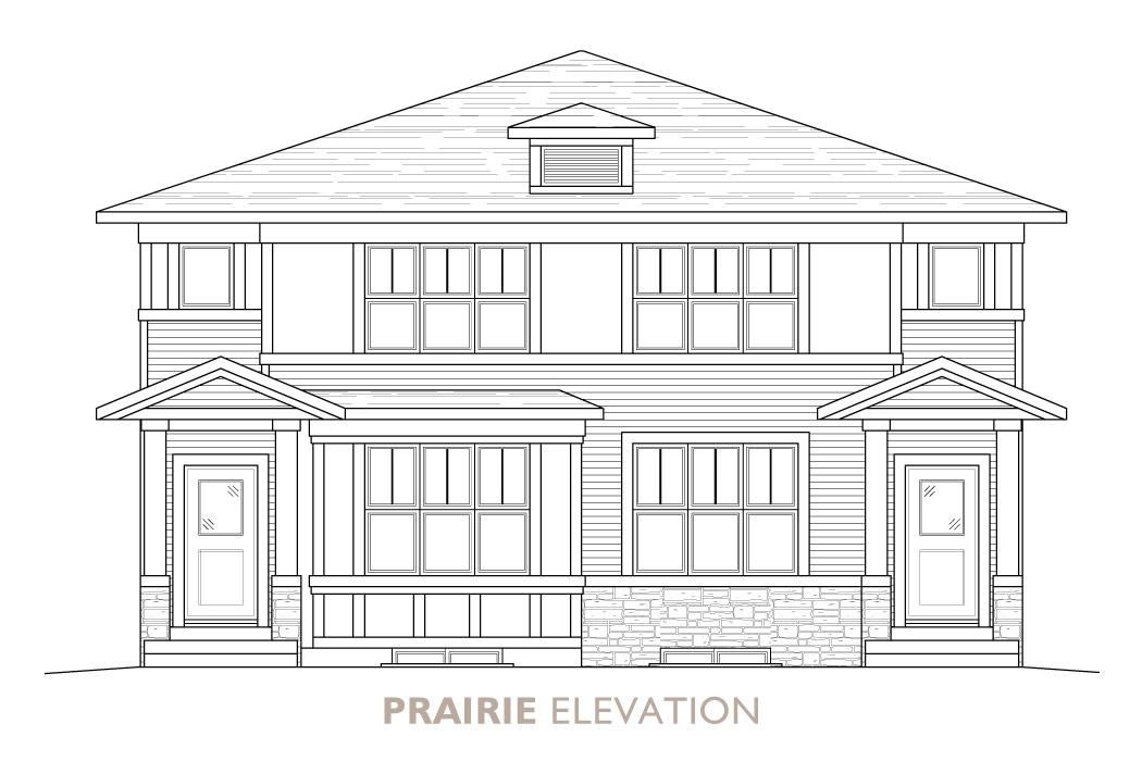 Walden-Duplex-Prairie Elevation