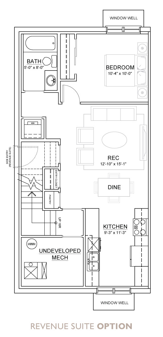 Walden - Duplex - Floor Plan - Revenue Suite