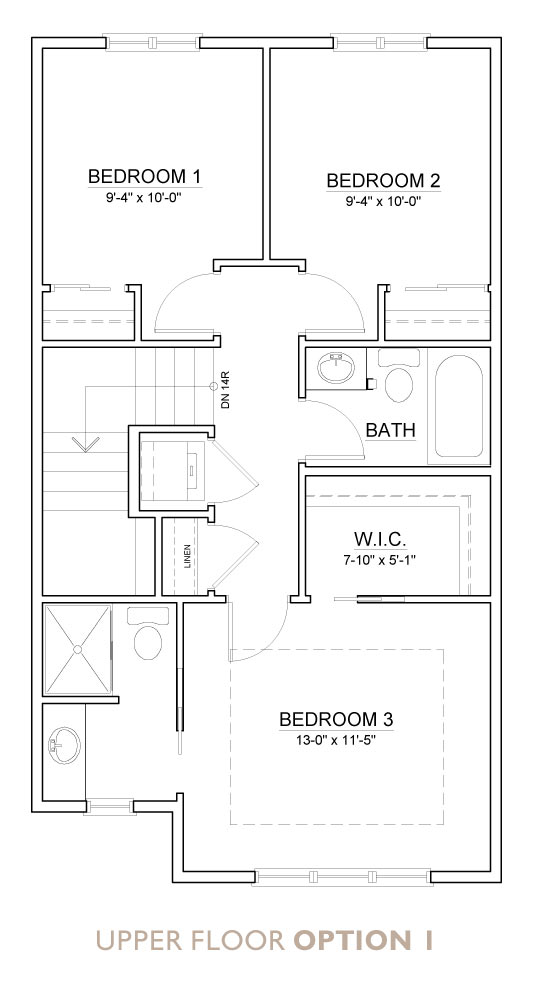 Truman - Chelsea - Aspen Floor Plan Upper 1