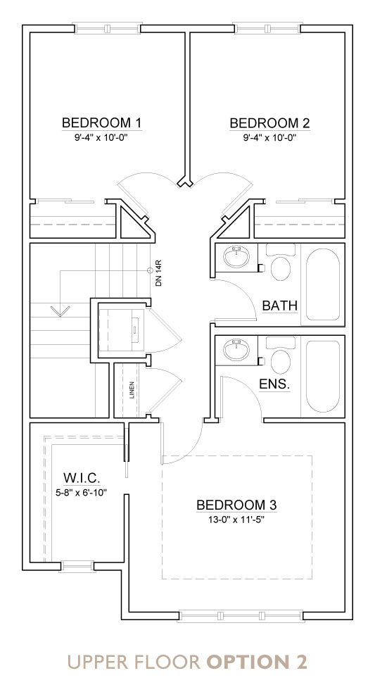 Truman - Chelsea - Aspen Floor Plan Upper 2