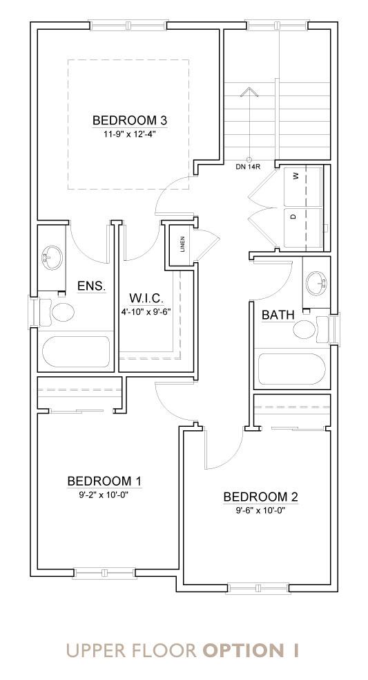 Truman - Chelsea - Indigo Floor Plan Upper 1