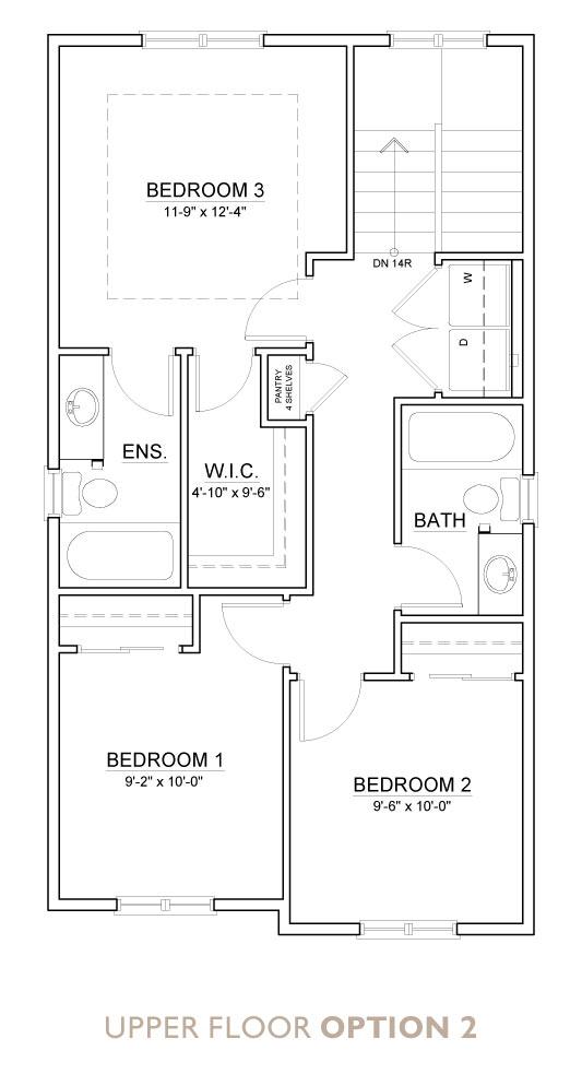 Truman - Chelsea - Indigo Floor Plan Upper 2