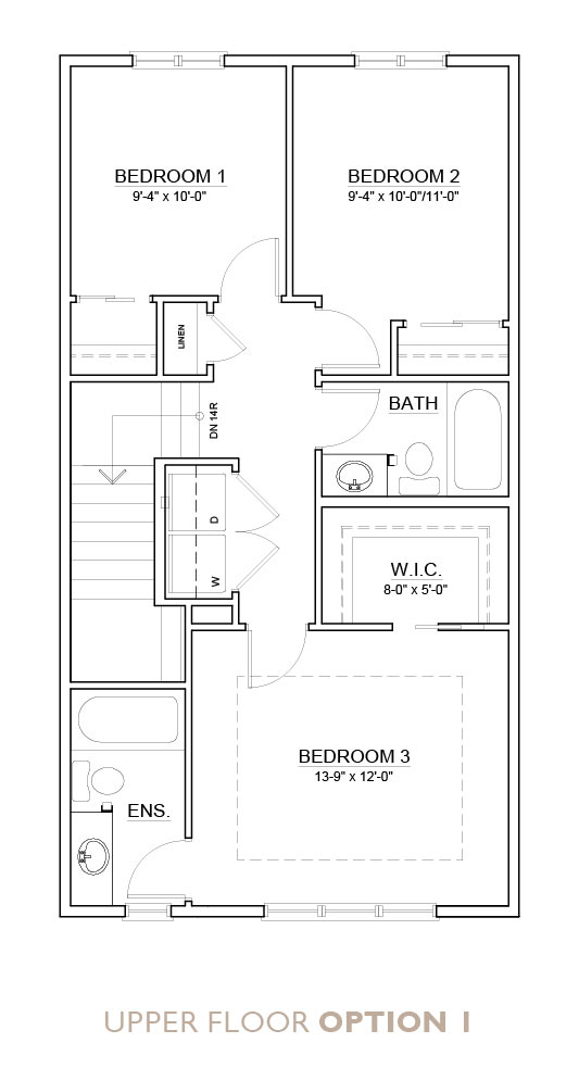 Truman - Chelsea - Fern Floor Plan Upper 1