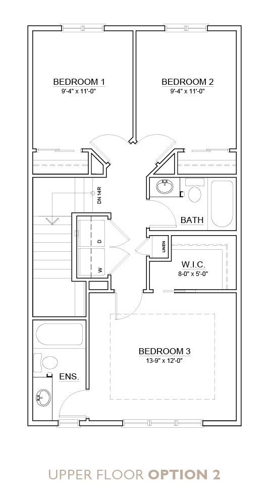 Truman - Chelsea - Fern Floor Plan Upper 2