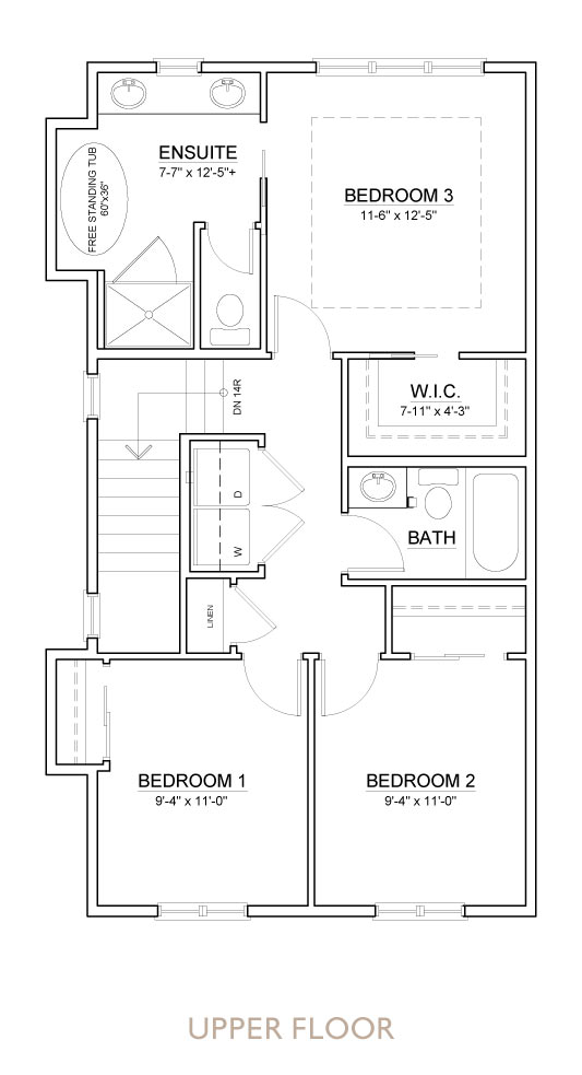 Truman - Chelsea - Sedge Floor Plan Upper