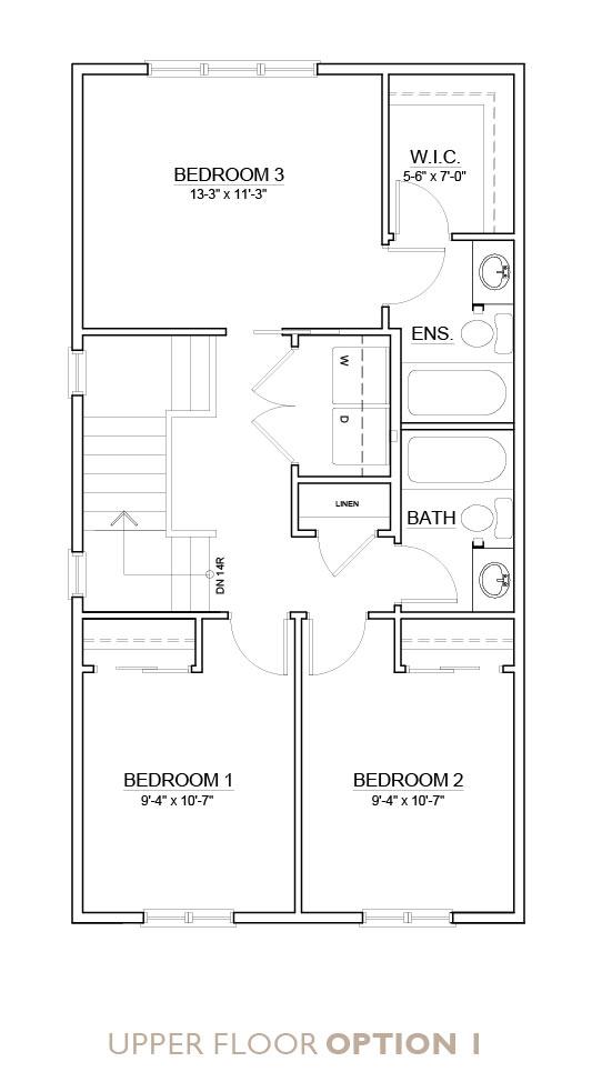 Truman - Chelsea - Senna Floor Plan Upper 1