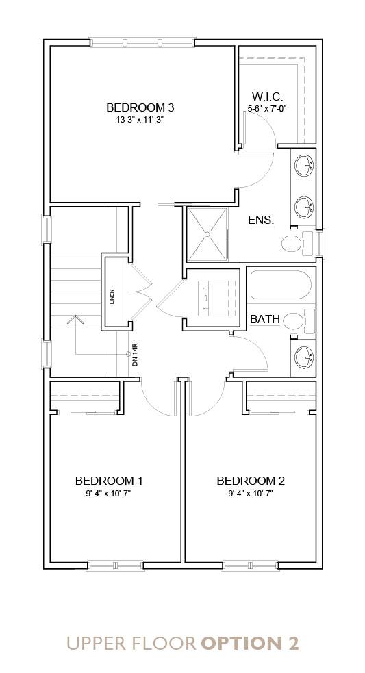 Truman - Chelsea - Senna Floor Plan Upper 2