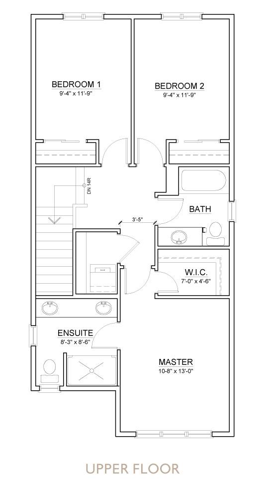 Truman - Chelsea - Bluestem Floor Plan Upper