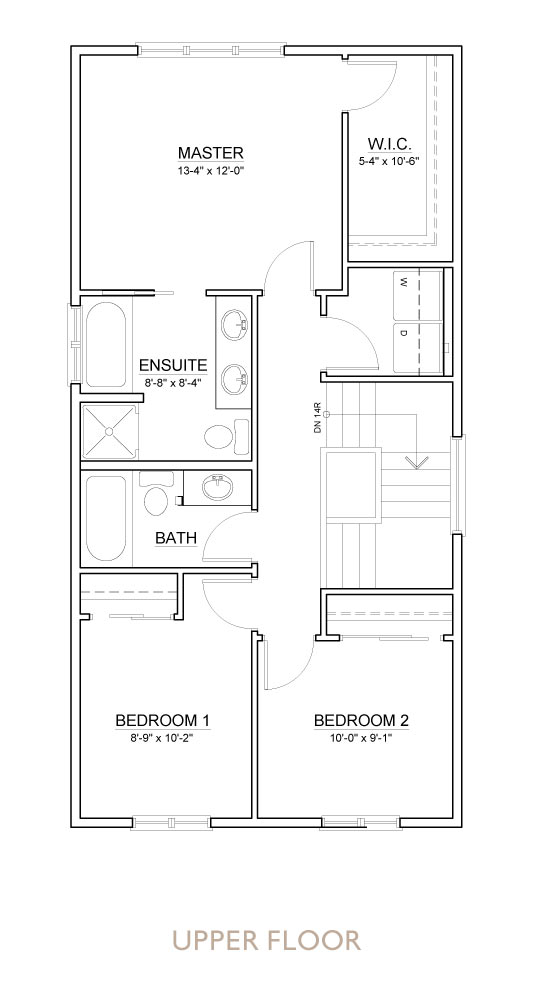 Truman - Chelsea - Snowberry Floor Plan Upper
