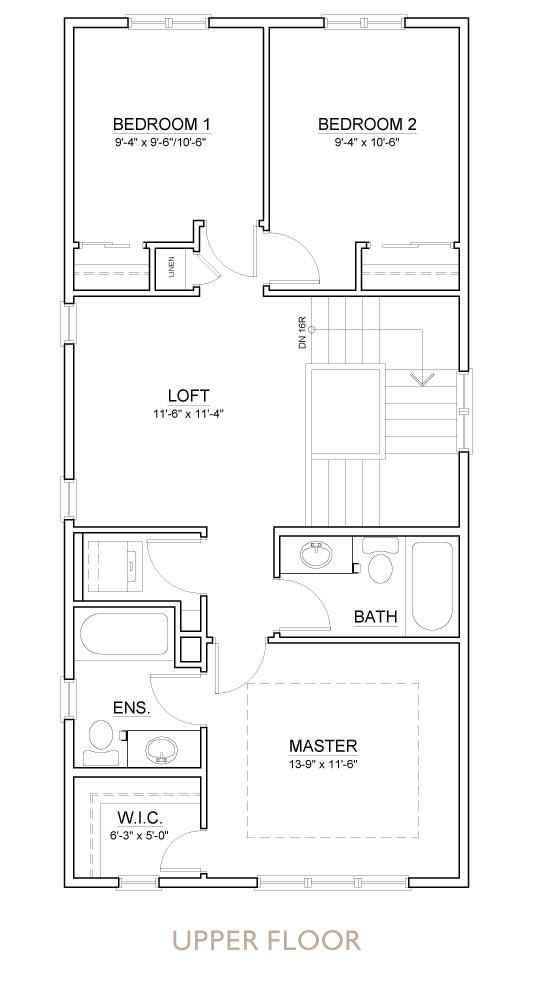 Truman - Chelsea - Bellflower Floor Plan Upper