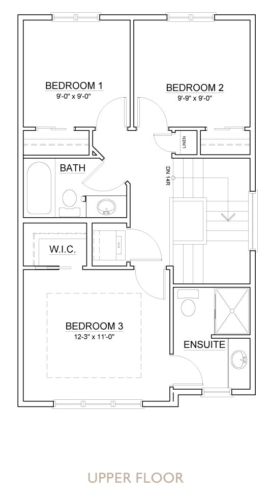 Truman - Chelsea - Aster Floor Plan Upper