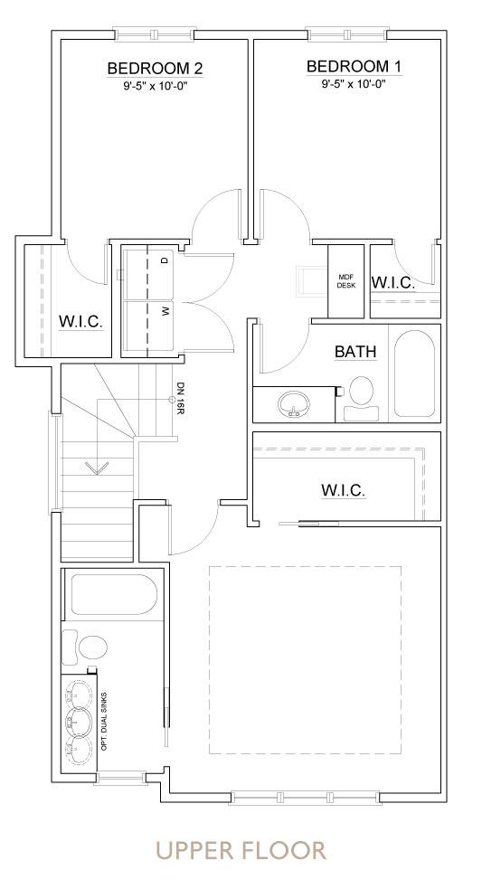 Truman - Chelsea - Sage Floor Plan Upper 1