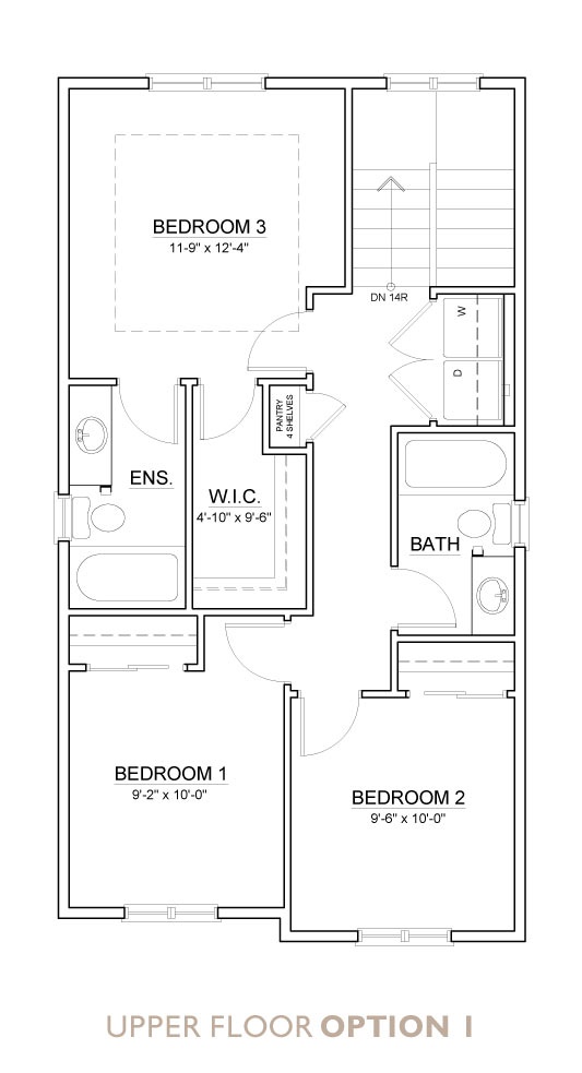 Truman - Chelsea - Willow Floor Plan Upper 1