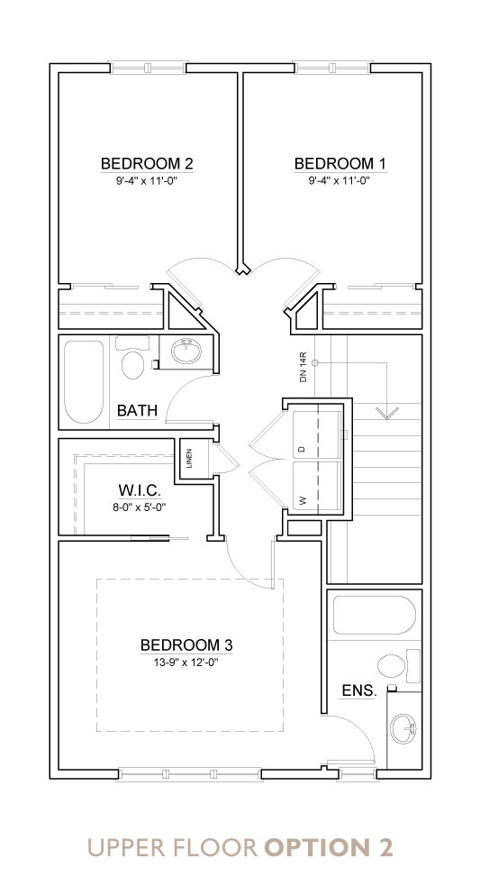 Truman - Chelsea - Willow Floor Plan Upper 2