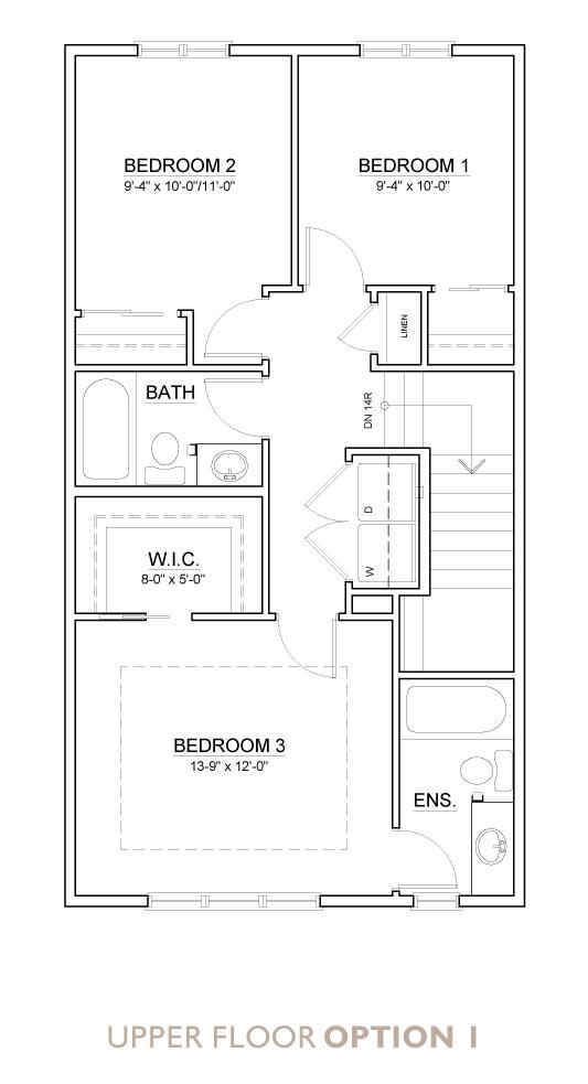 Truman - Chelsea - Yarrow Floor Plan Upper 1