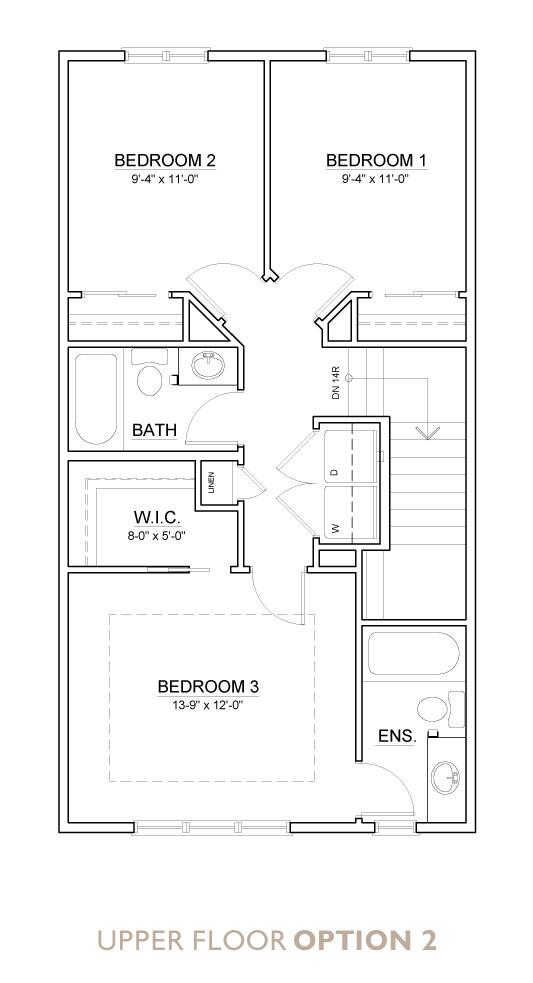 Truman - Chelsea - Yarrow Floor Plan Upper 2