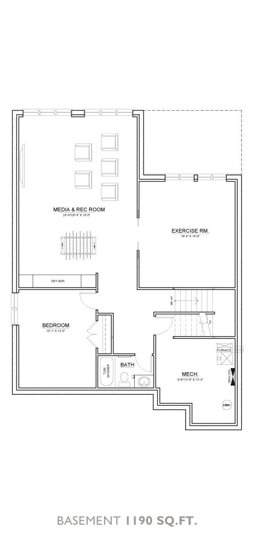 Boulder Floor Plan - Basement