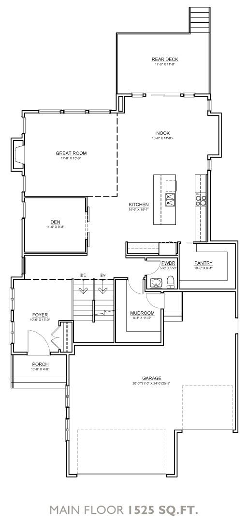Boulder Floor Plan - Main Floor