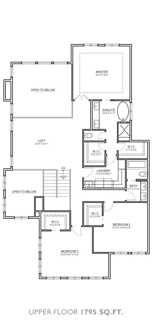 Boulder Floor Plan - Upper Floor