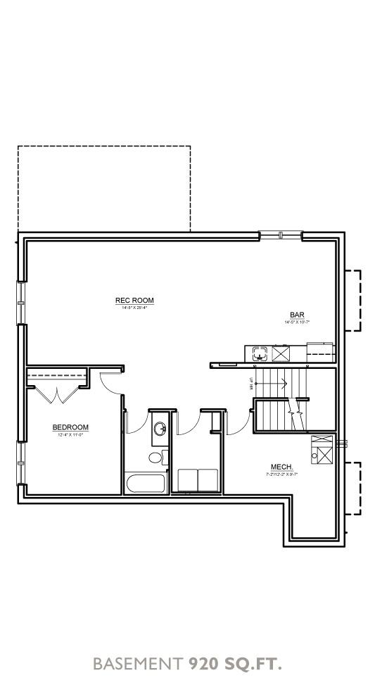 Canyon Floor Plan - Basement