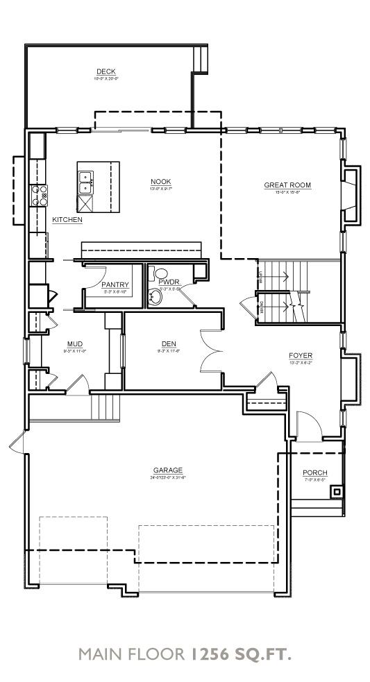 Canyon Floor Plan - Main Floor
