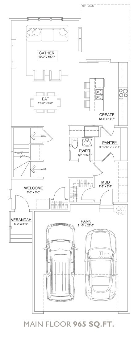 Coast Floor Plan - Main Floor