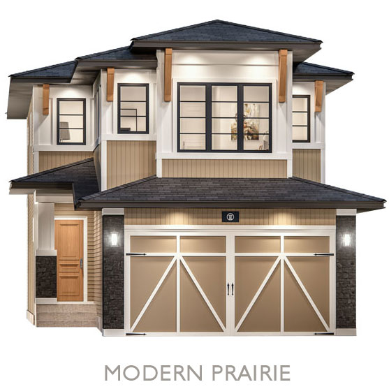 Single Family Estate Homes - By Truman - Modern Prairie Elevation