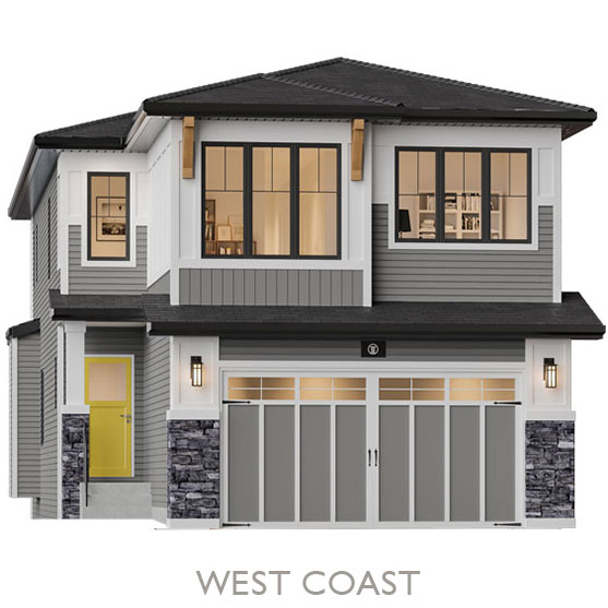Single Family Estate Homes - By Truman - West Coast Elevation