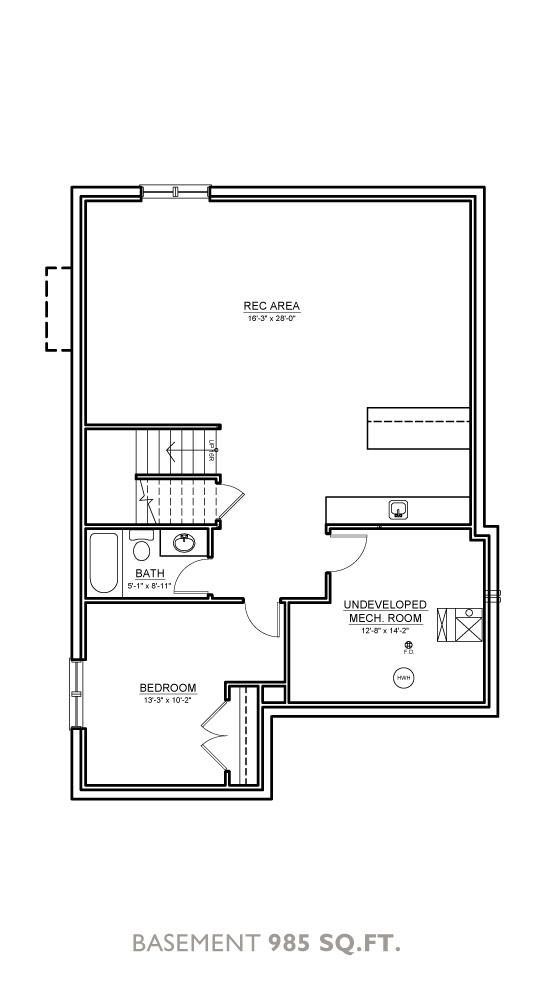 Glacier Floor Plan - Basement