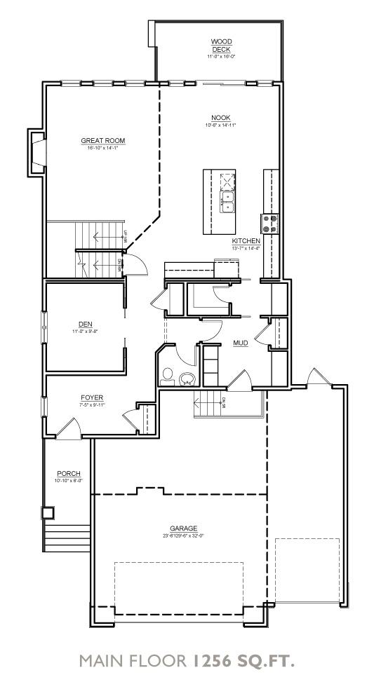 Glacier Floor Plan - Main Floor