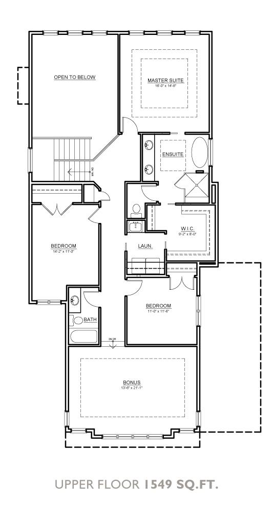 Glacier Floor Plan - Upper Floor
