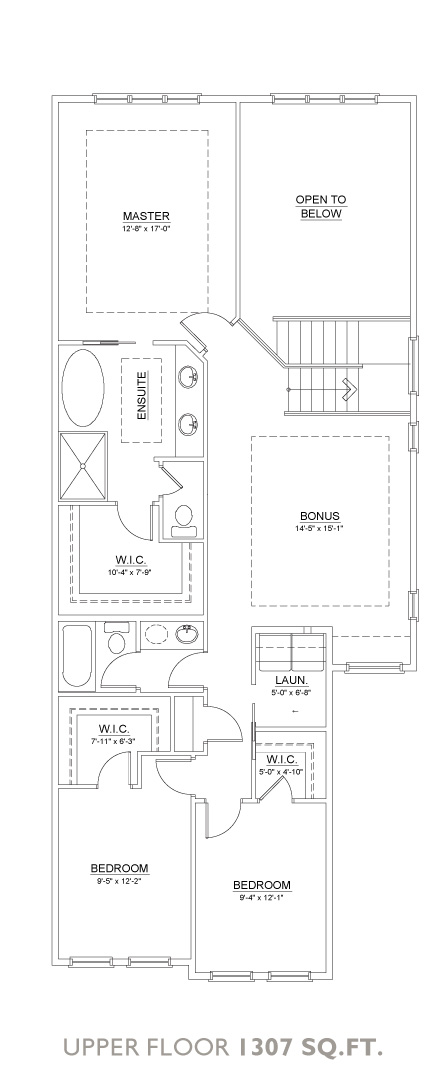 Mystic Floor Plan - Upper