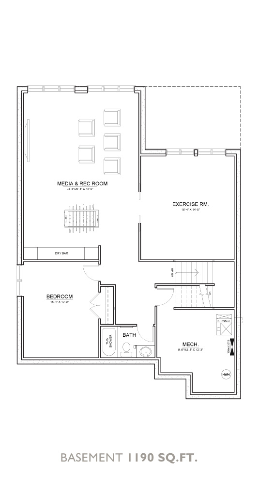 Summit Floor Plan - Basement