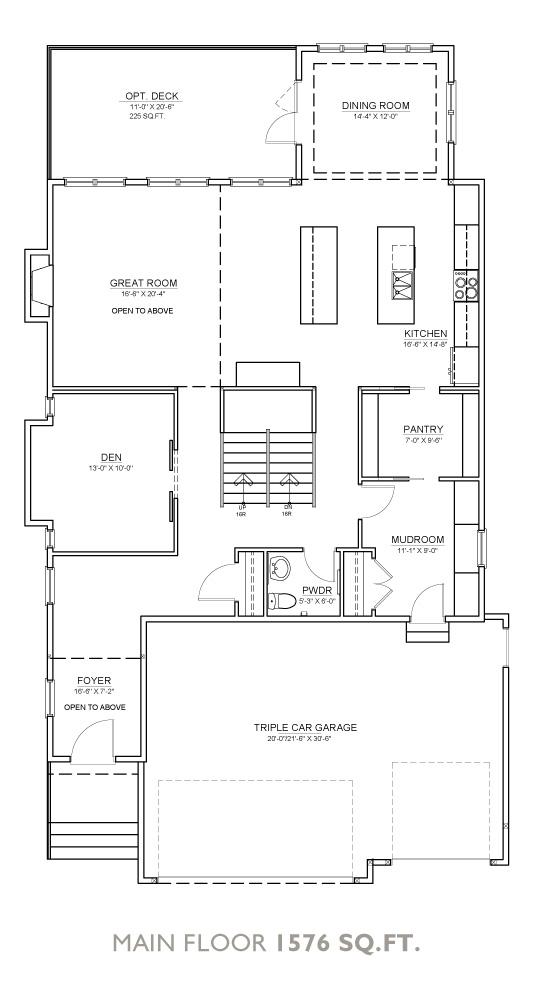 Summit Floor Plan - Main Floor