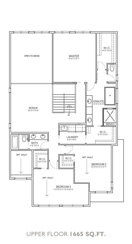 Summit Floor Plan - Upper Floor