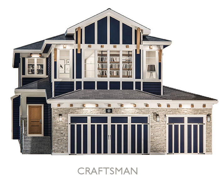 Valley Estate Homes - By Truman - Craftsman Elevation