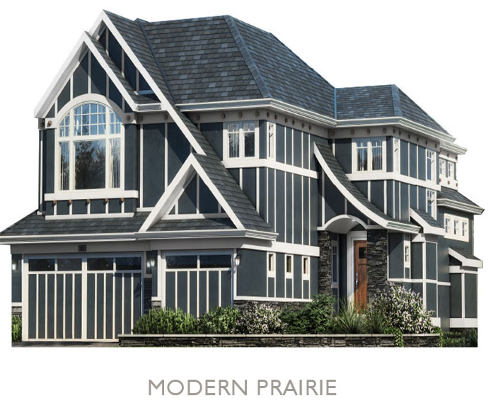 Valley Estate Homes - By Truman - Modern Prairie Elevation