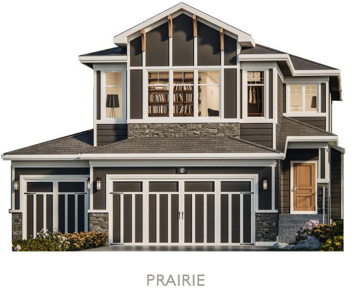 Valley Estate Homes - By Truman - Prairie Elevation