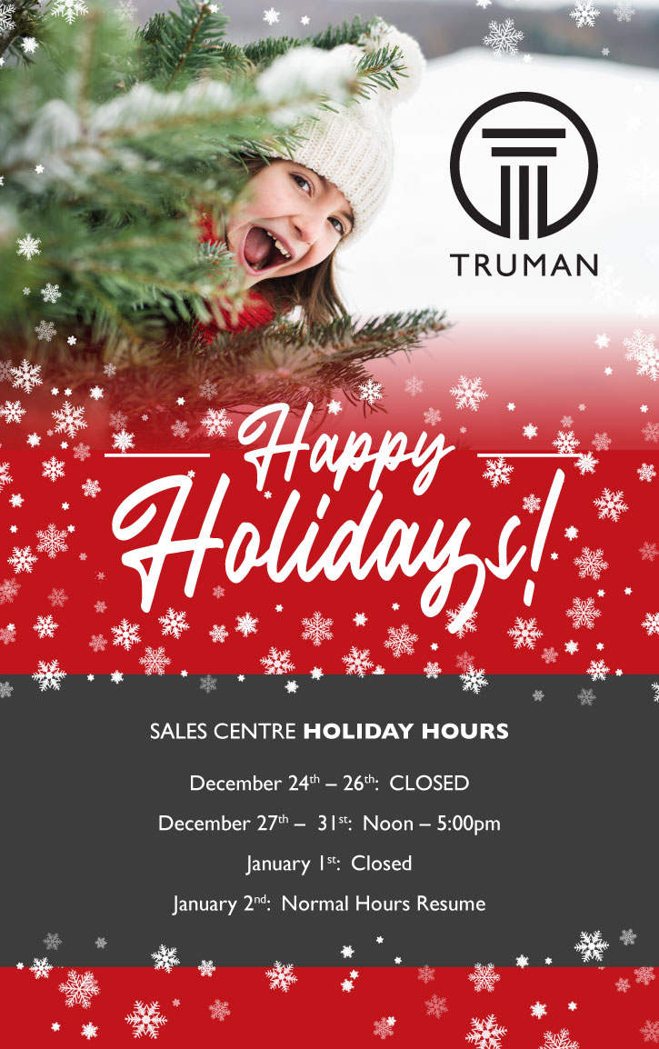 Truman - 2019 Holiday Hours