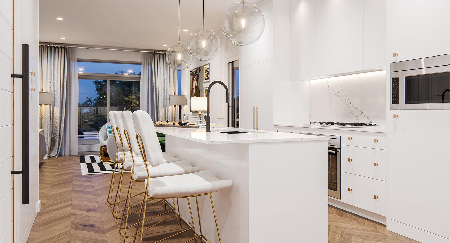 Bright, Airy & White Kitchen